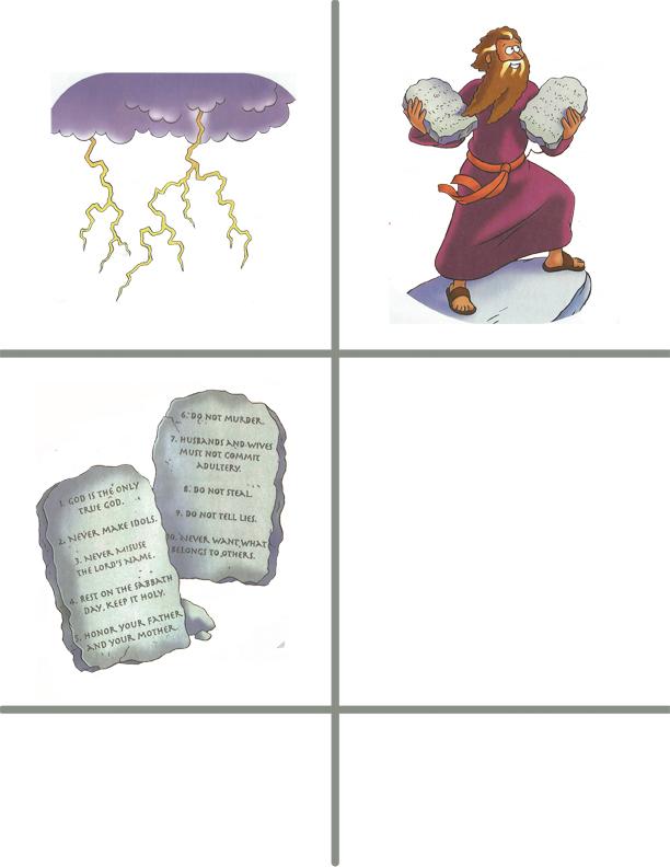 Preschool 10 commandments activities and crafts: