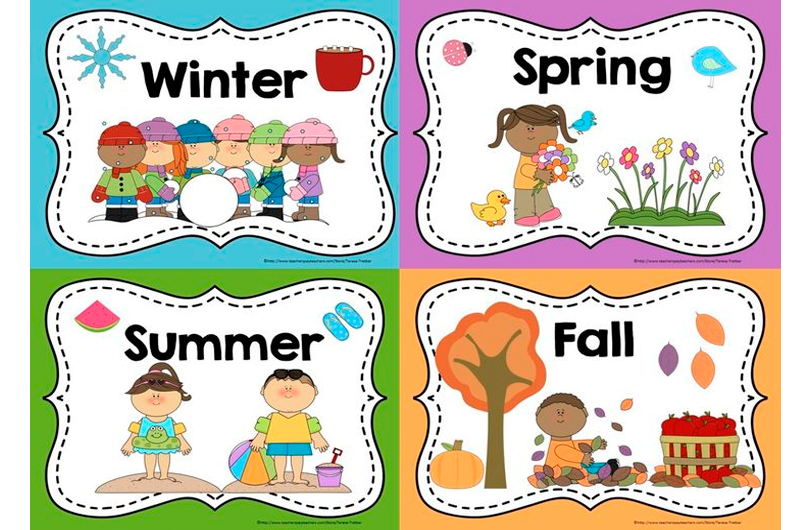 image relating to Season Printable identified as PreK Prep Calendar, Seasons and Excess