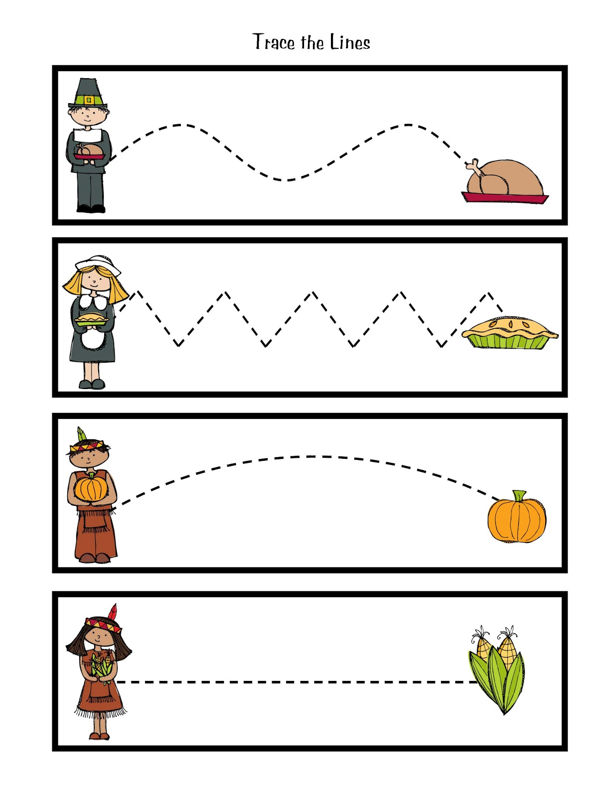 ... Pledge of Allegiance Thanksgiving Tracing Page by Preschool Printables