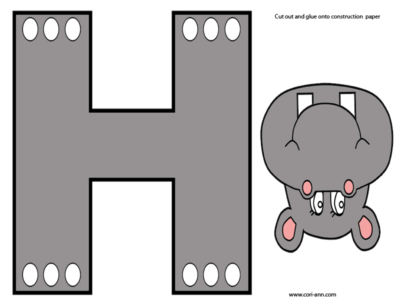 letter e craft by cori prep prek letter h hippo theme by cori 544